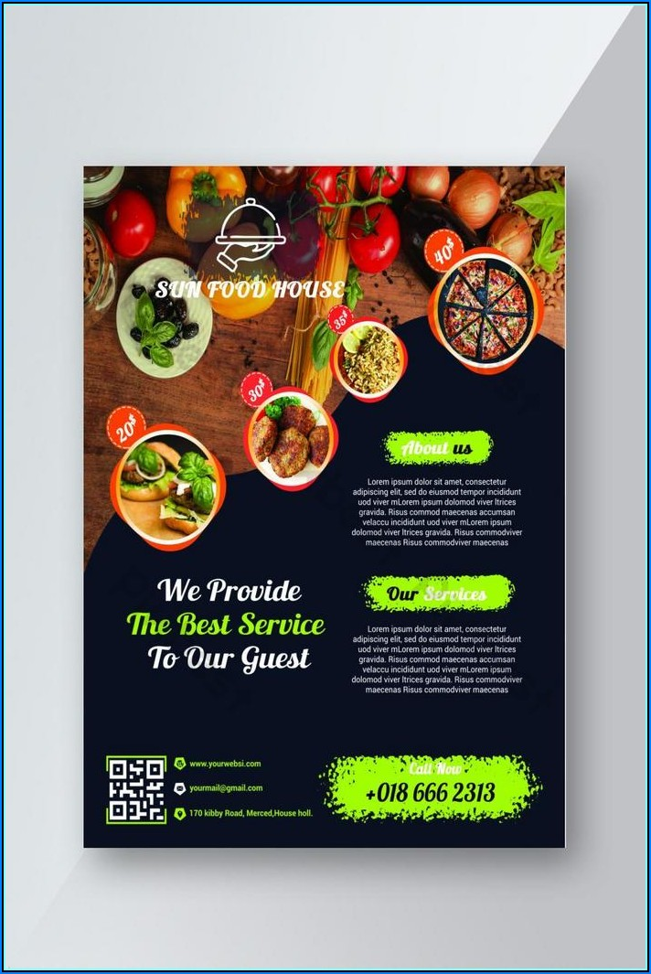 Free Restaurant Flyer Template Psd