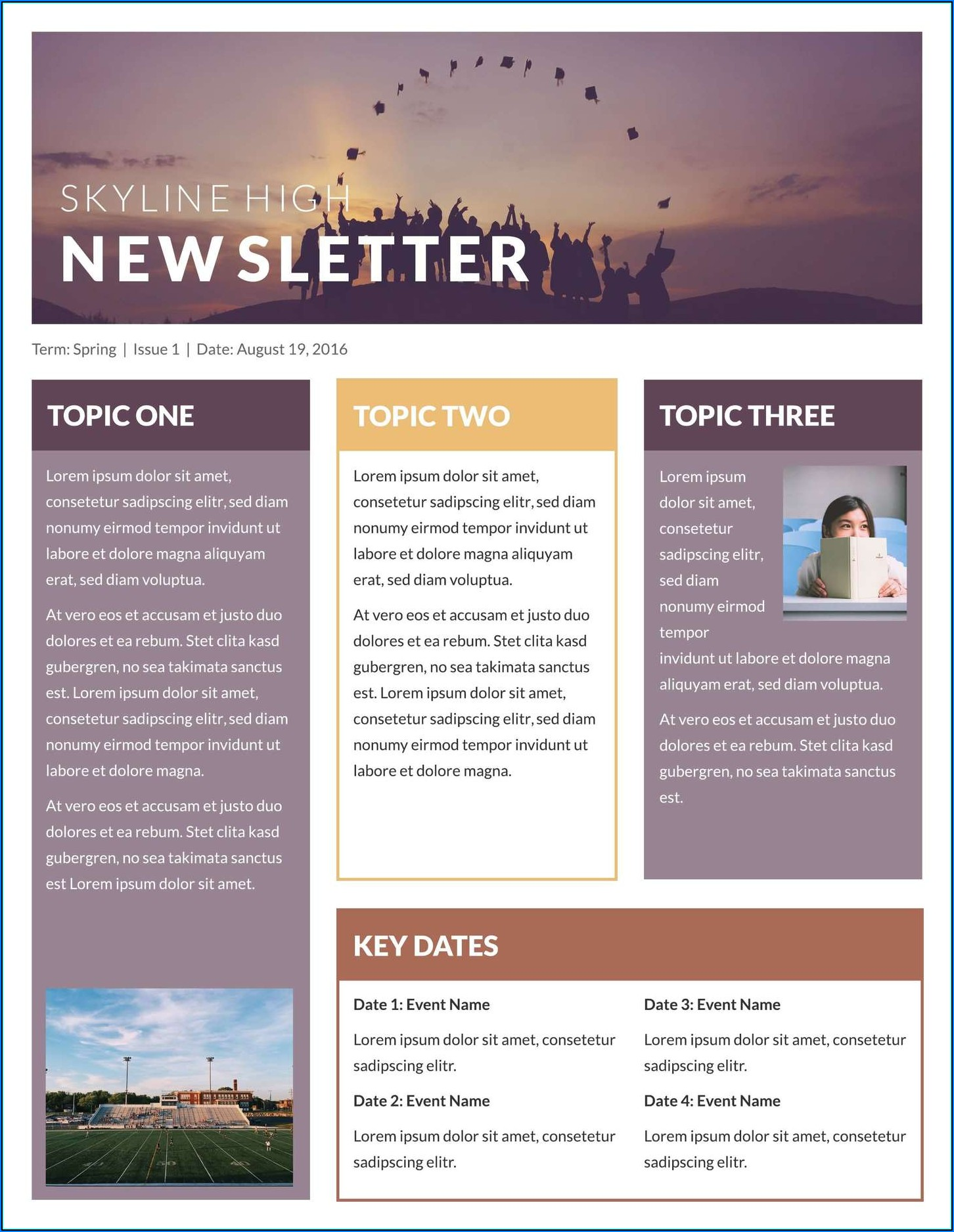 Free Template For Newsletter In Word