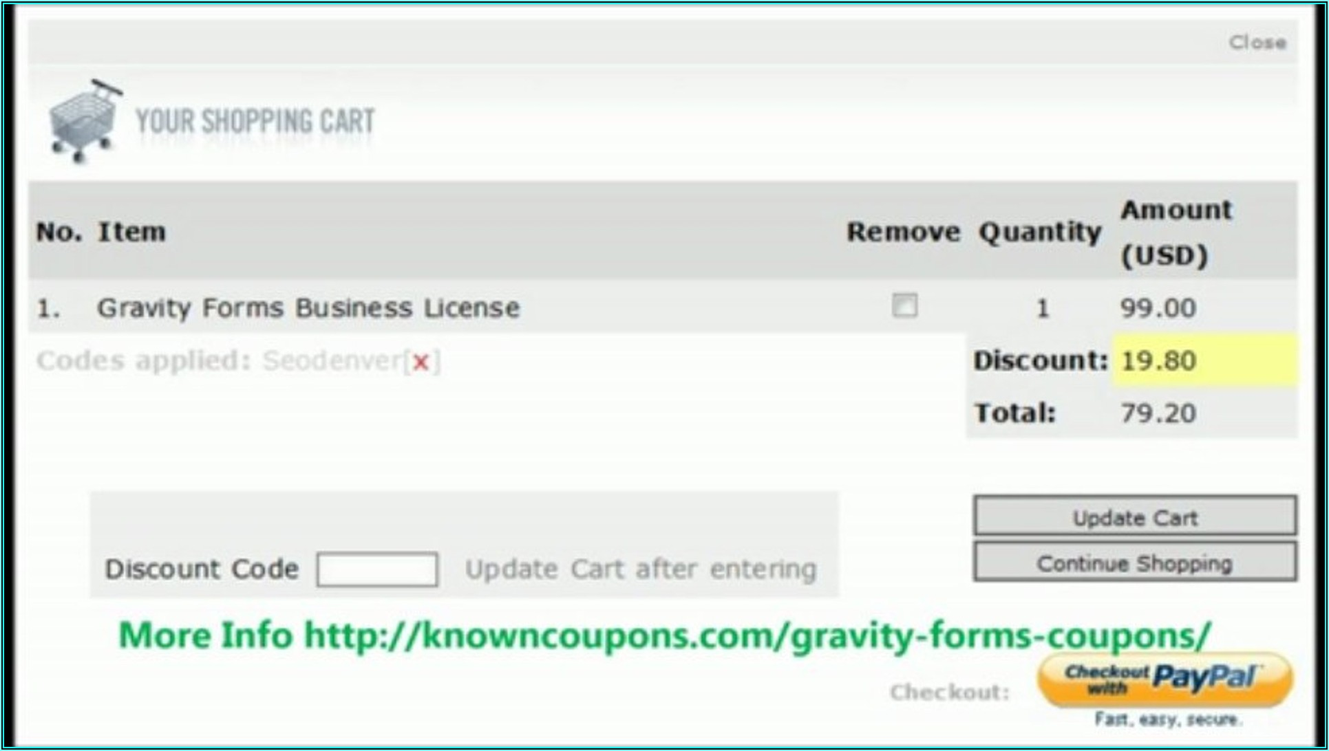 Gravity Forms Discount