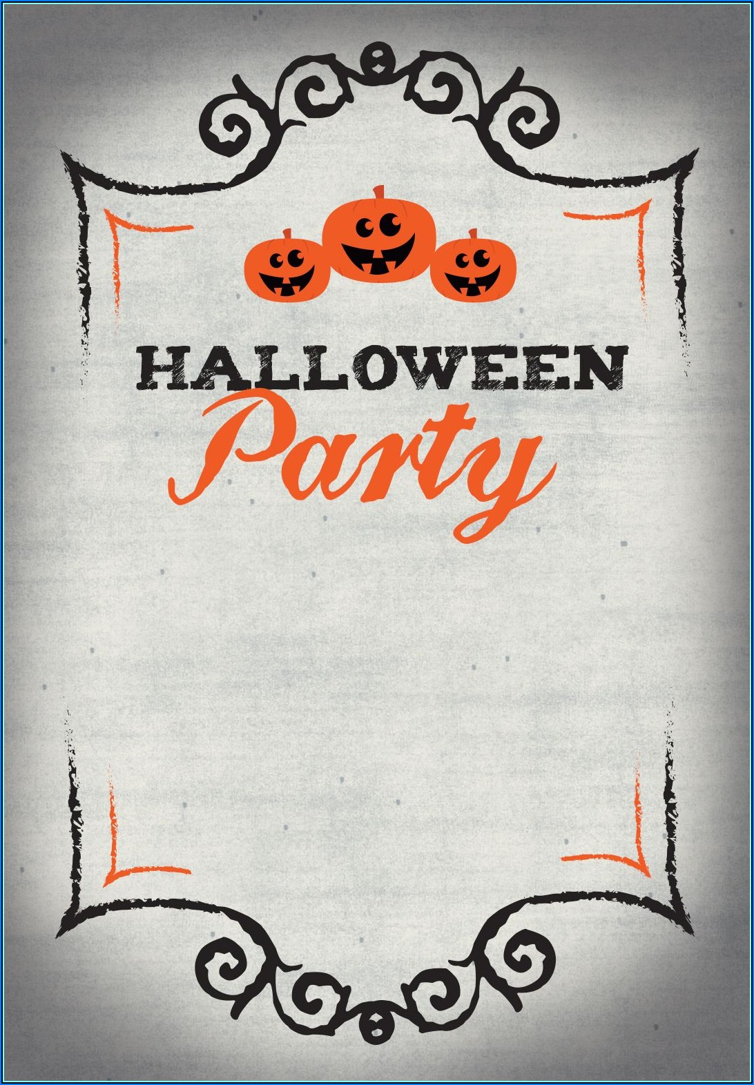 Halloween Party Invitation Template Printable