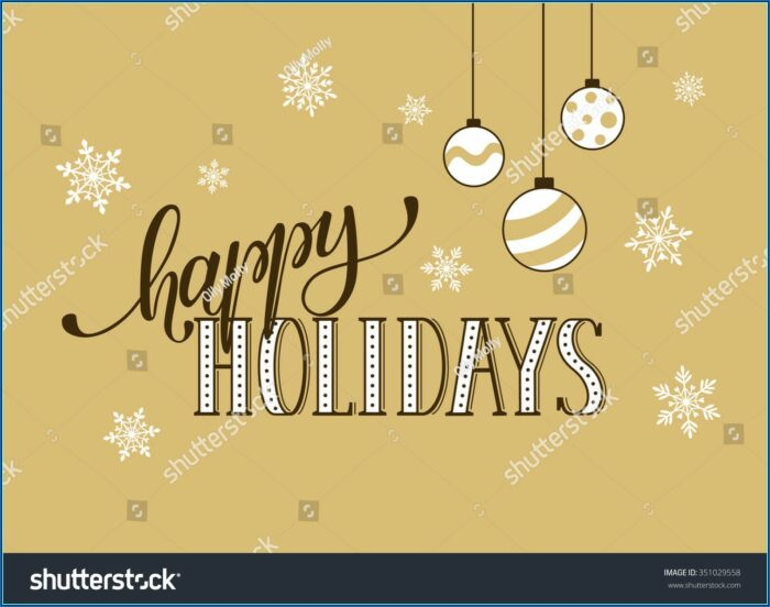 Happy Holidays Postcard Template