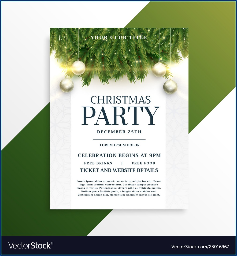 Holiday Party Flyer Template Free Download