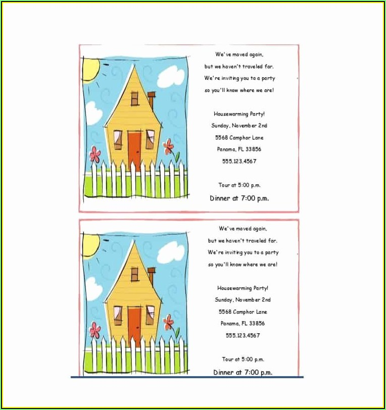 Housewarming Party Invitation Template Free Download