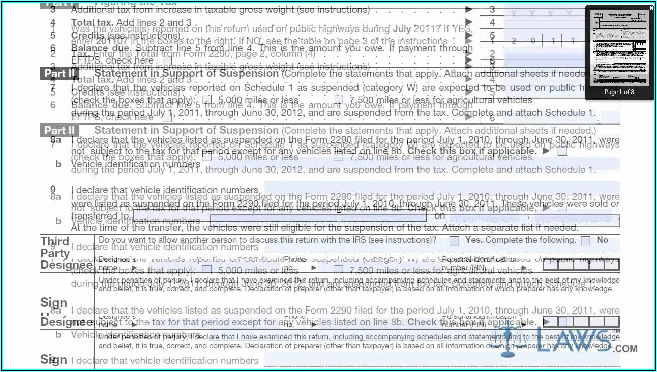 How To Fill Out Form 2290 Online