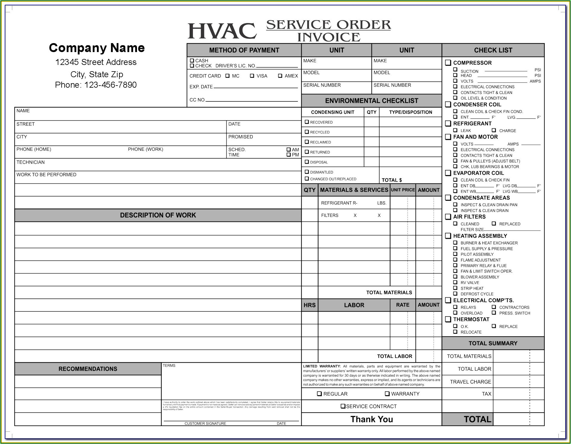 Hvac Proposal Example