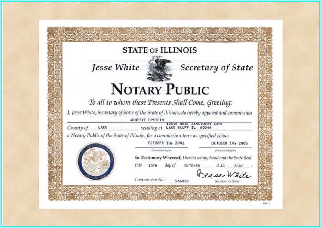 Illinois Notary Renewal Form