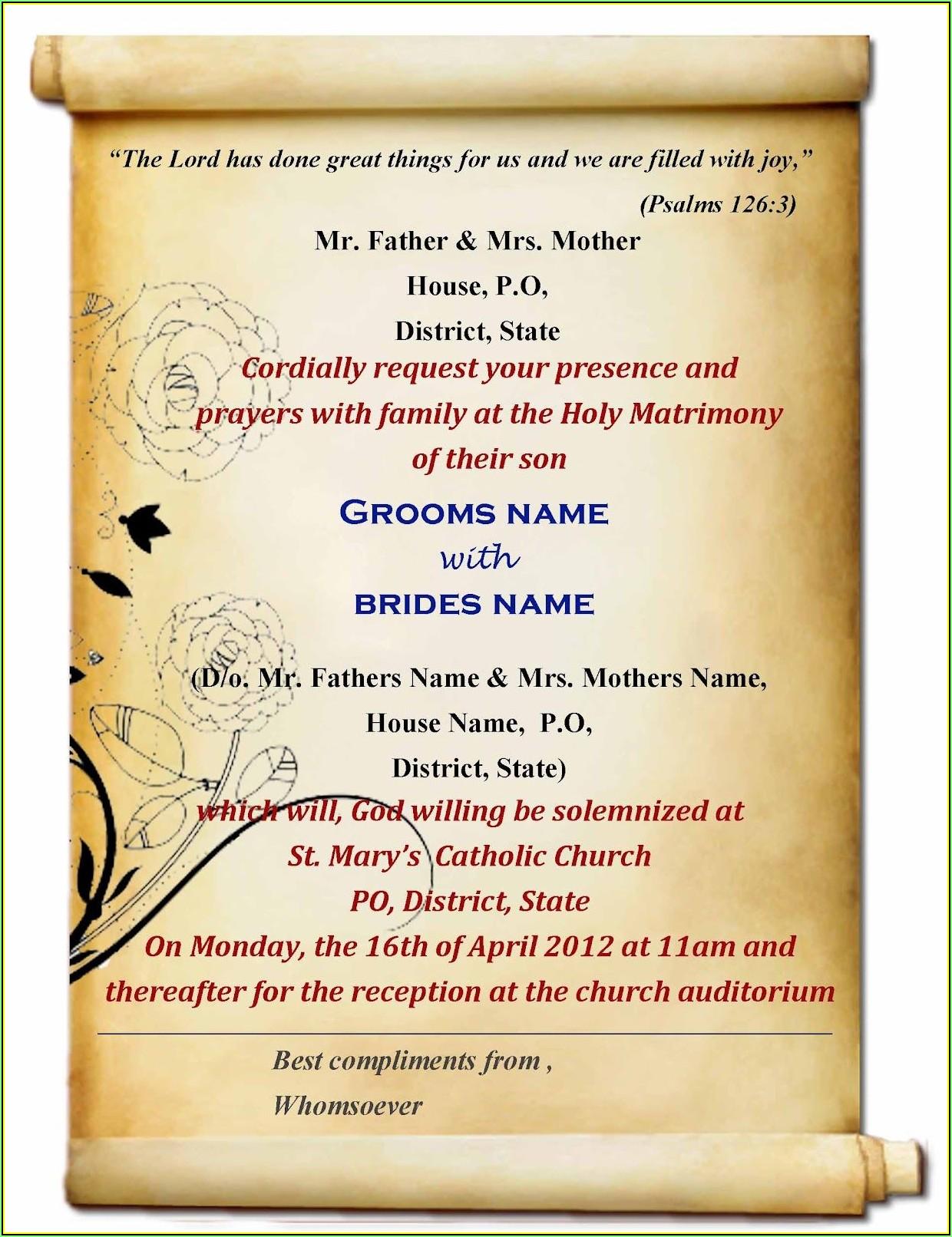 Indian Wedding Invitation Card Template Free