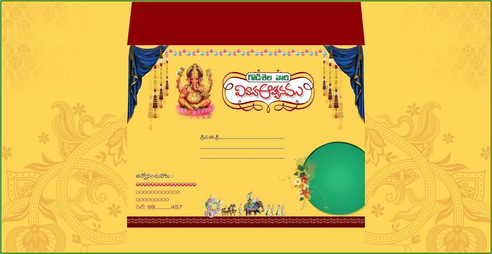 Indian Wedding Invitation Card Template Photoshop