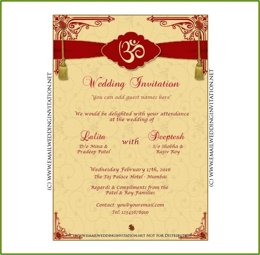 Indian Wedding Invitation Templates Online