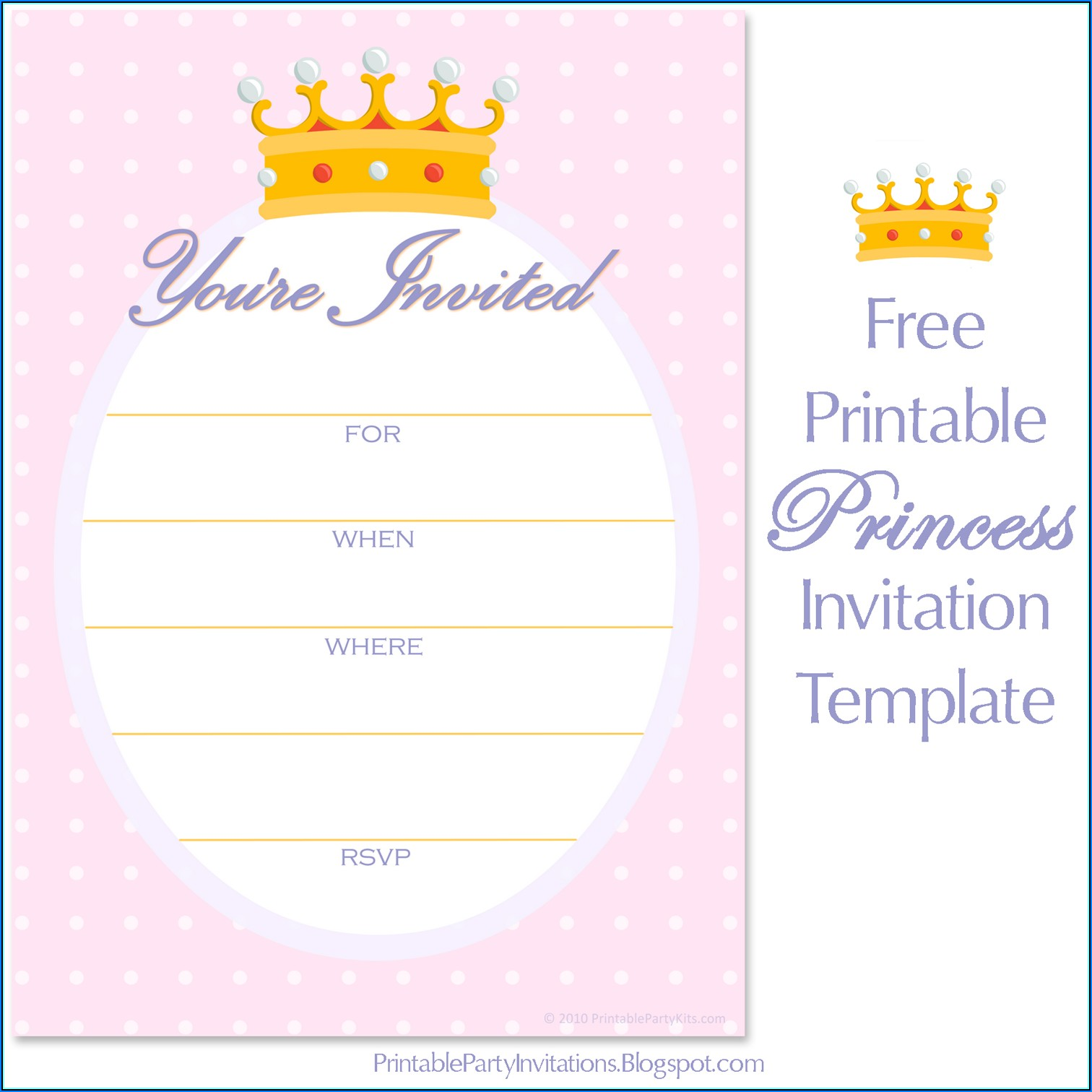 Invitation Template Crown Free Download