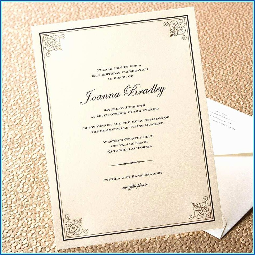 Invitation To Dinner Template Wording