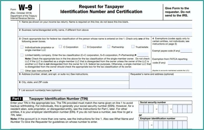 Irs.gov Form W 9 2020