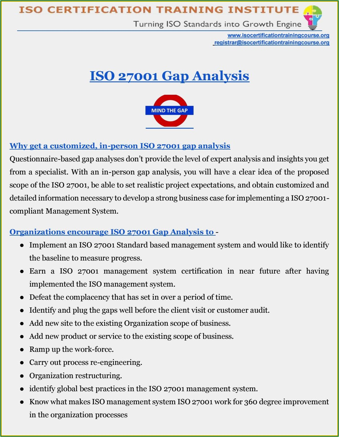 Iso 27001 Gap Analysis Example