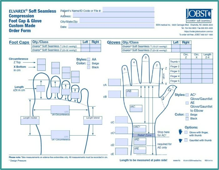 Jobst Elvarex Plus Foot Cap Order Form