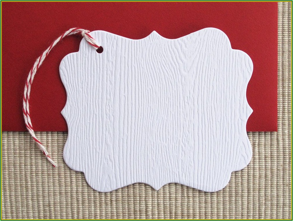 Large Blank Gift Tag Template
