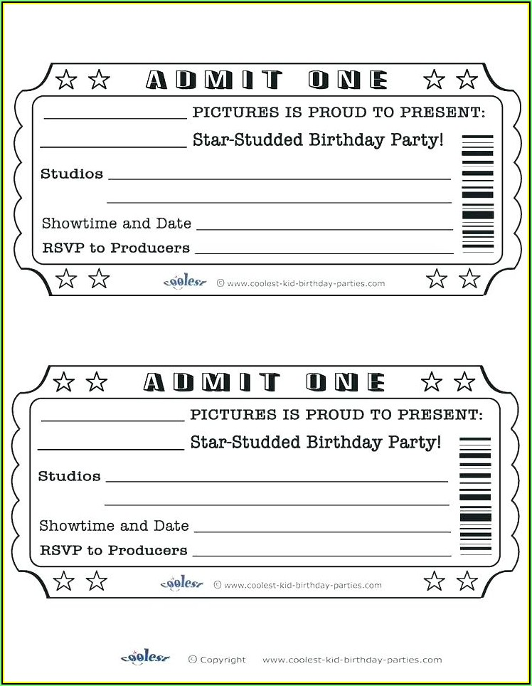 Meal Ticket Template Word