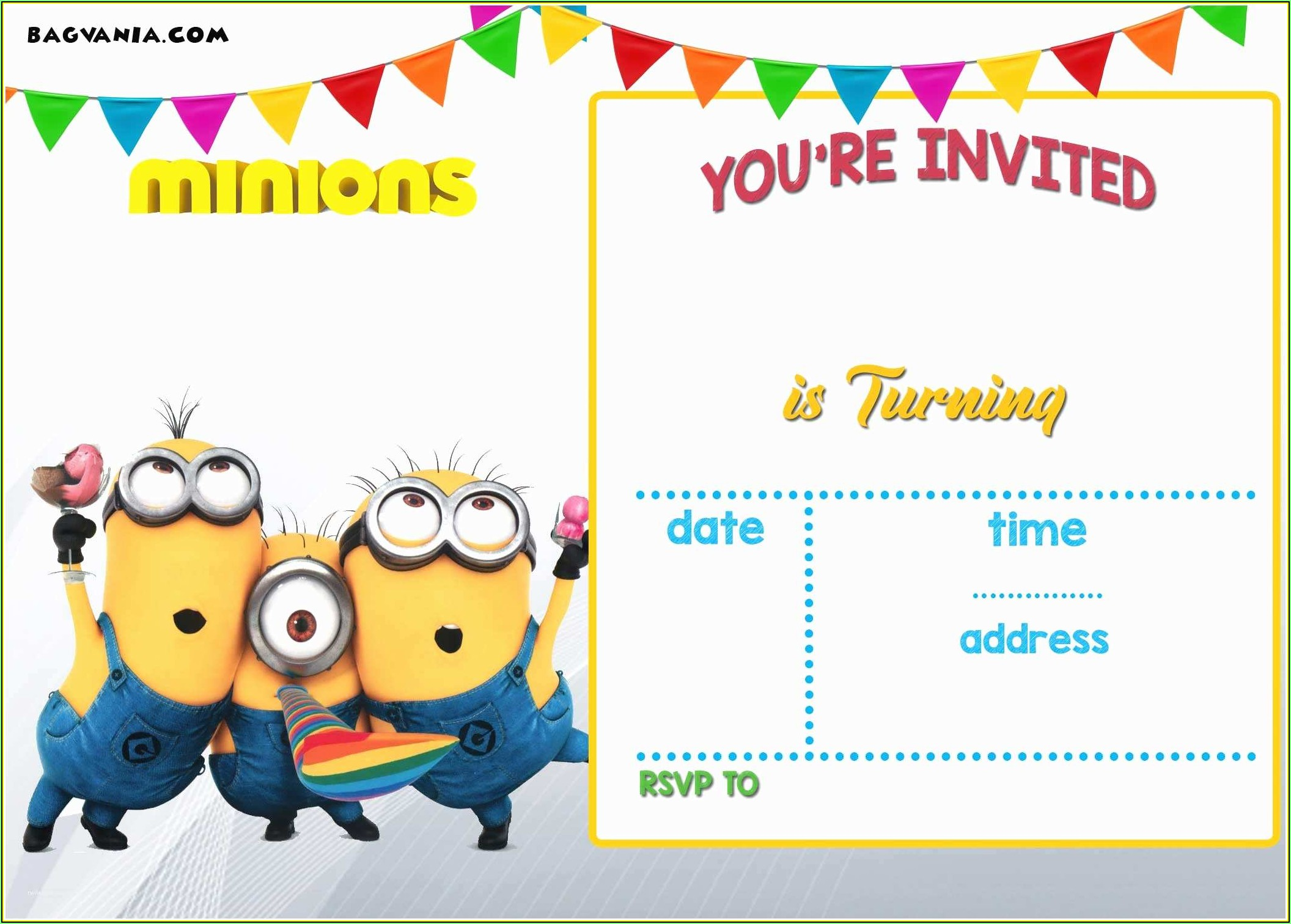 Minion Invitation Template