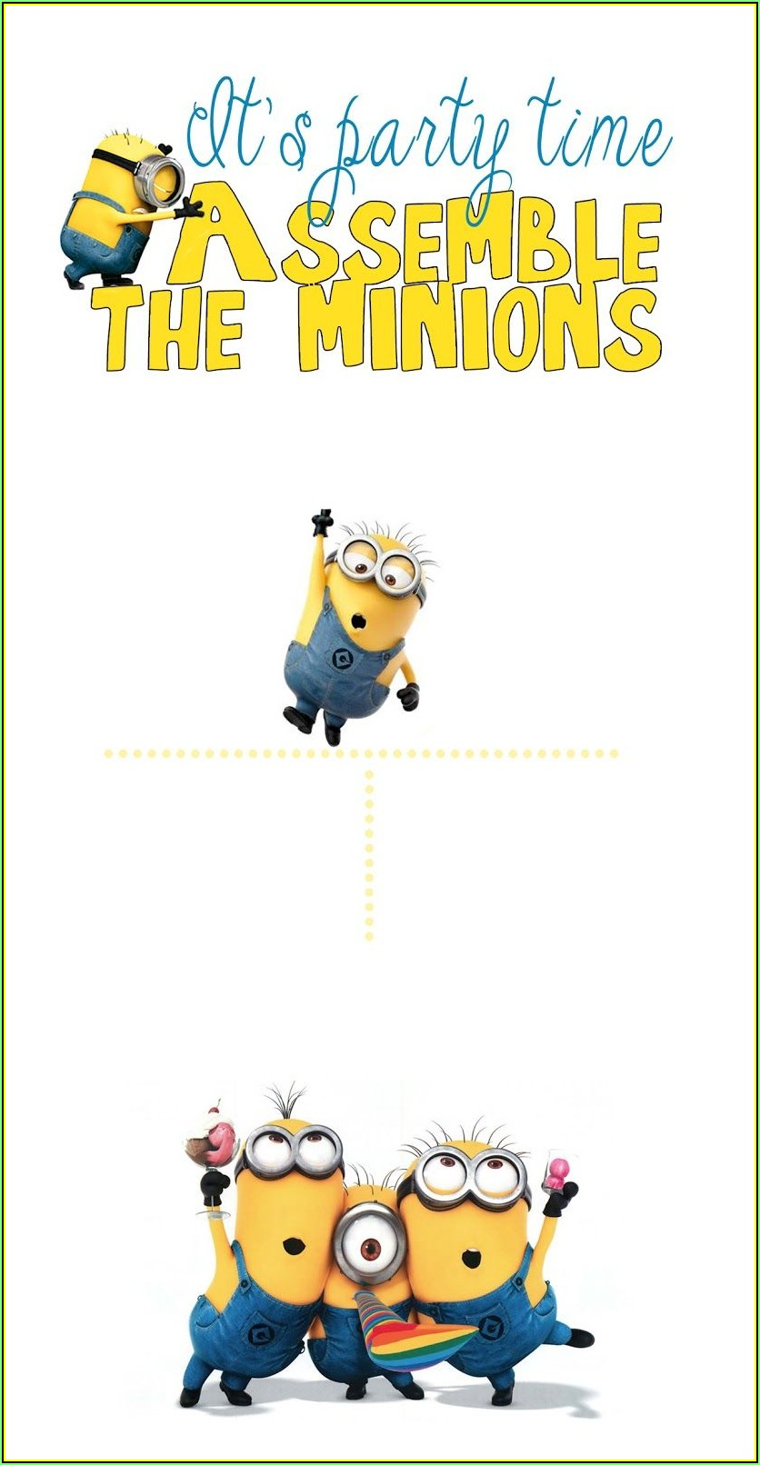 Minion Invite Template