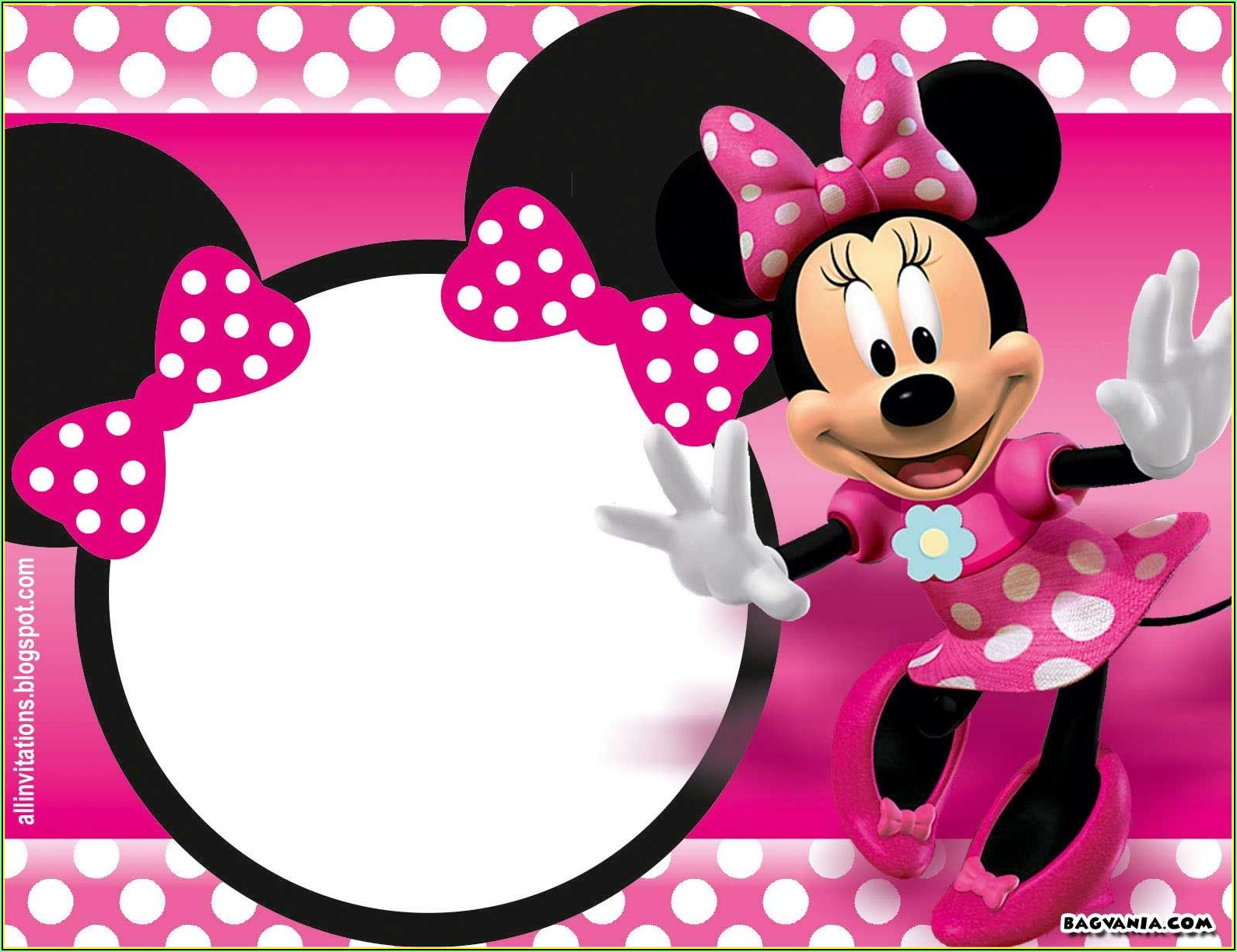 Minnie Mouse Birthday Invitations Template