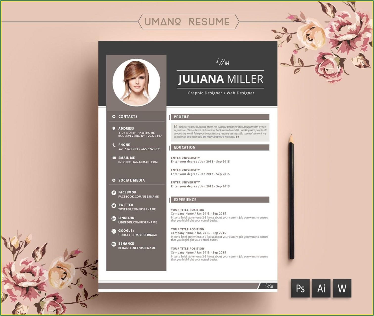 Modern Resume Templates Free Download