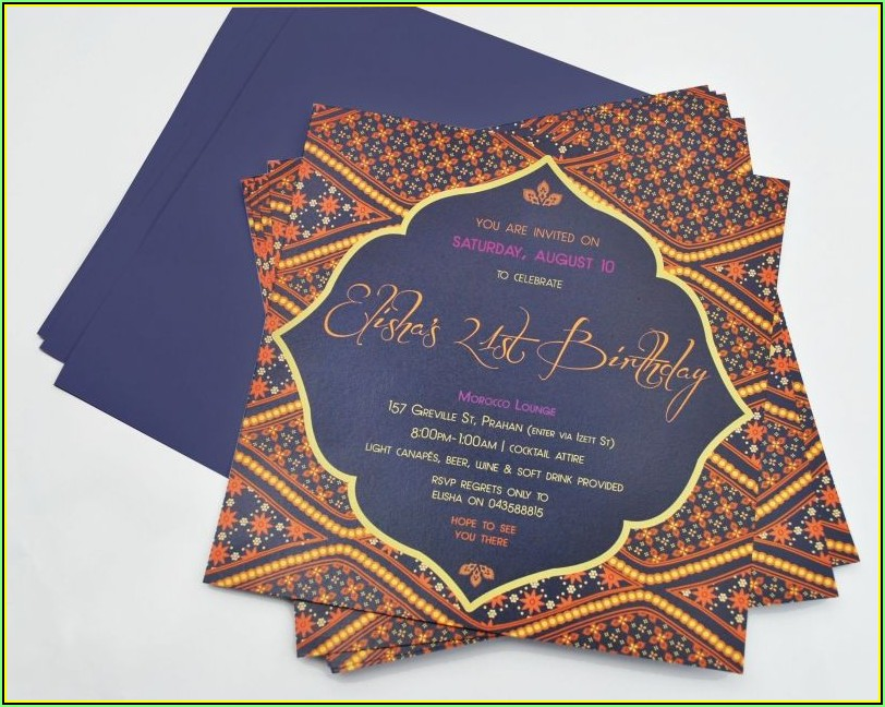 Moroccan Party Invitation Templates