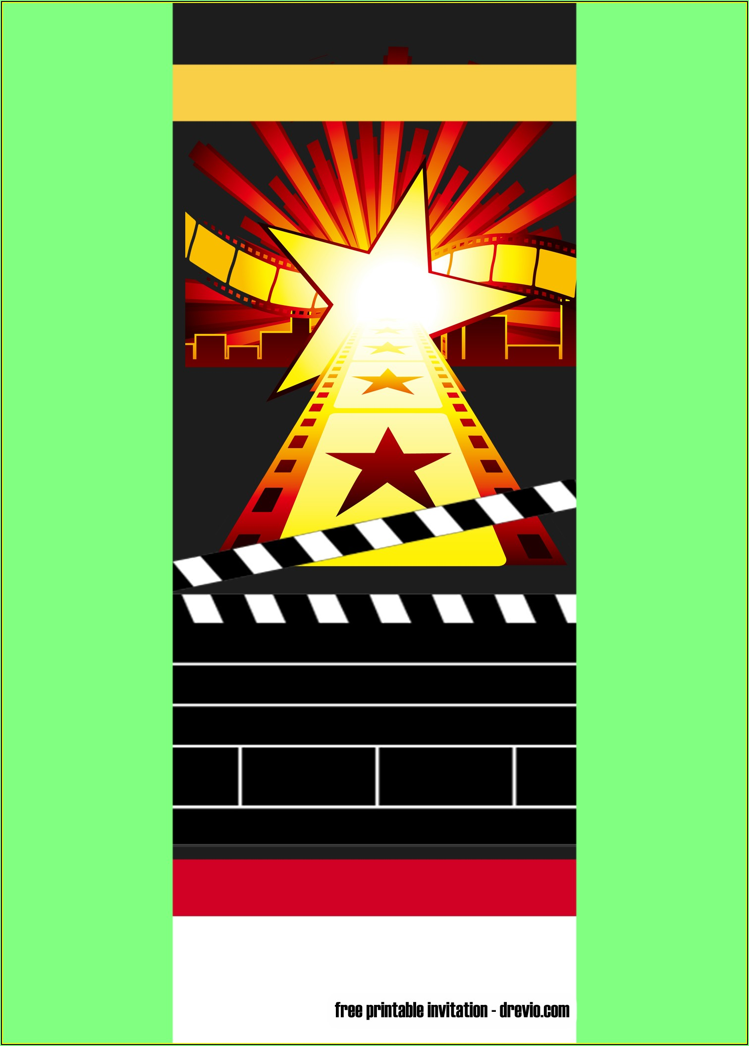 Movie Ticket Invitations Printable Free