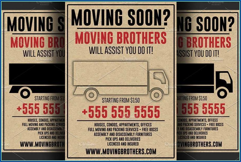Moving Flyers Templates Free