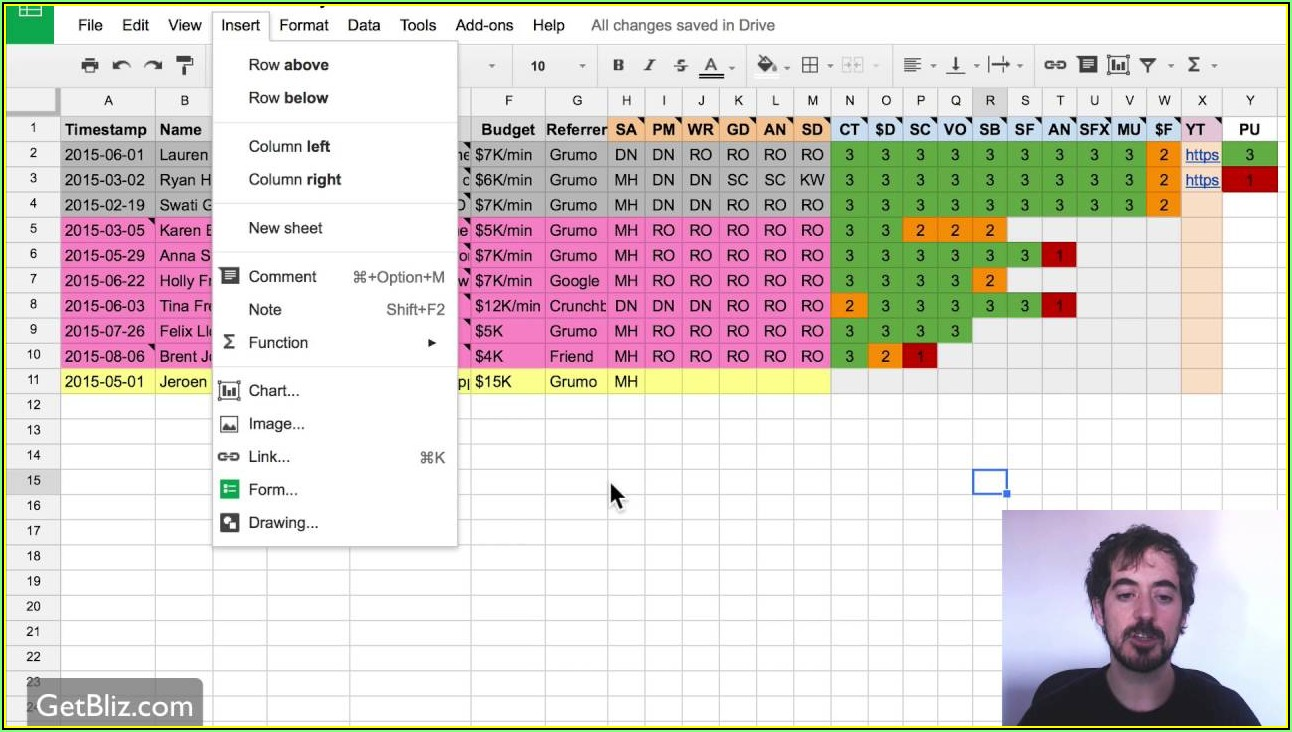 Multiple Project Tracking Template Google Sheets