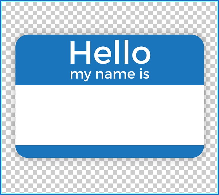 Name Badge Label Template