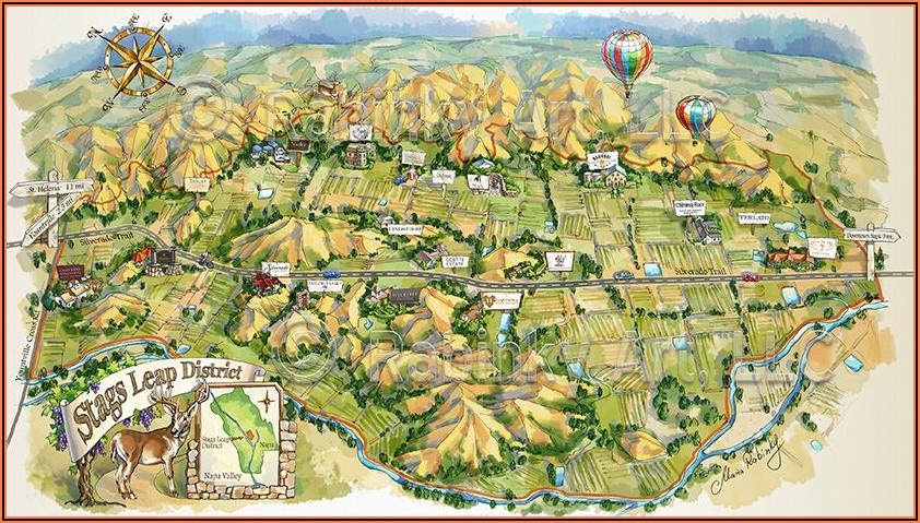 Napa Valley Map Of California