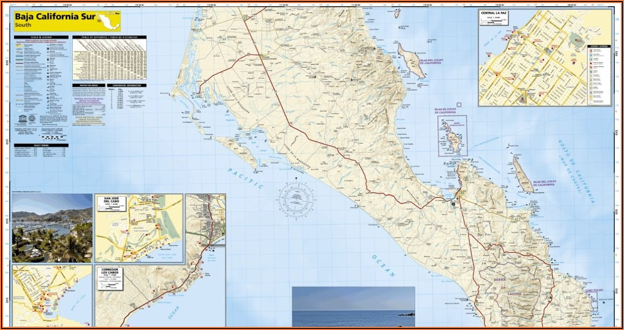 National Geographic Baja Map