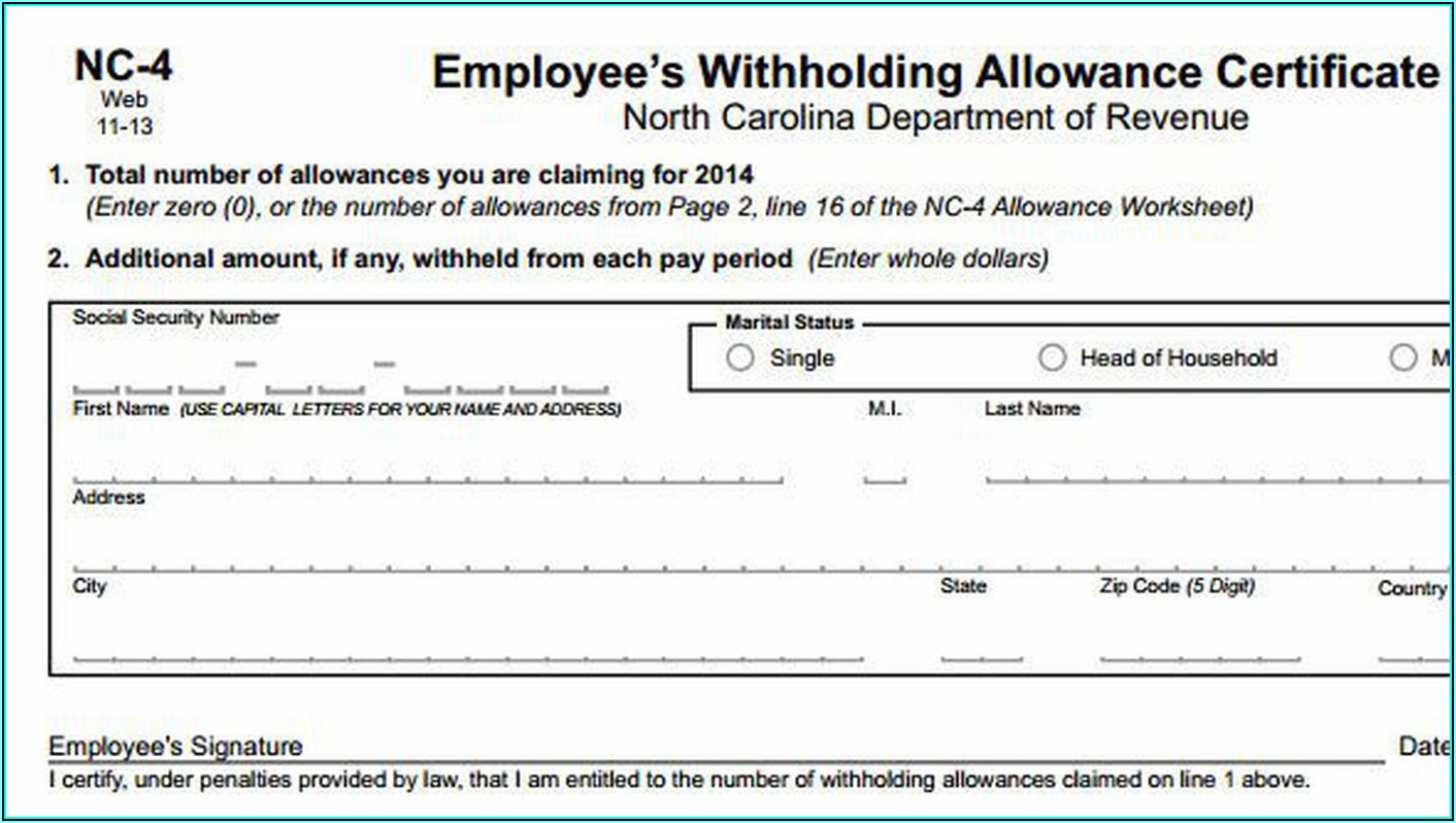 Nc Ez Tax Forms