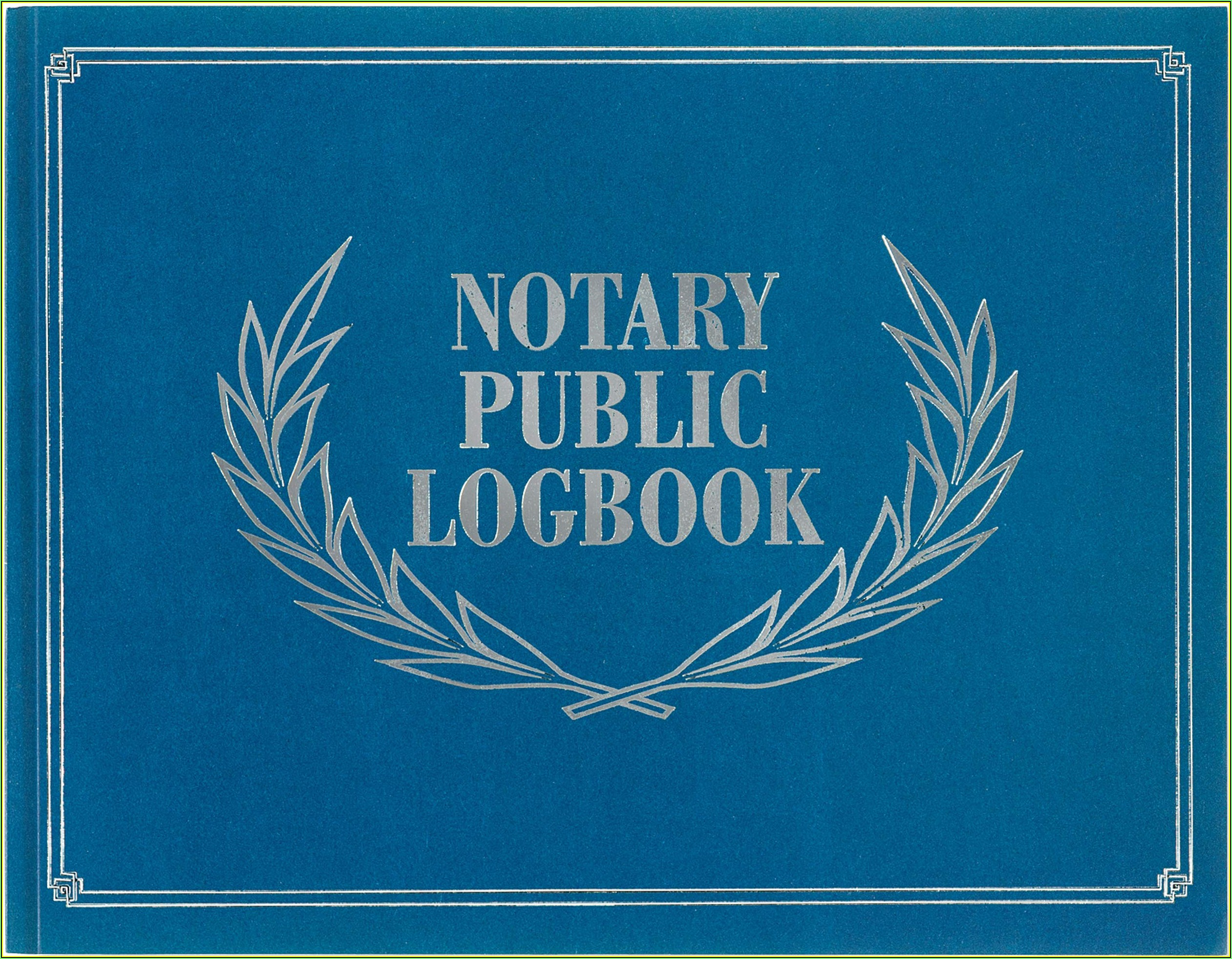 Nc Notary Journal Template