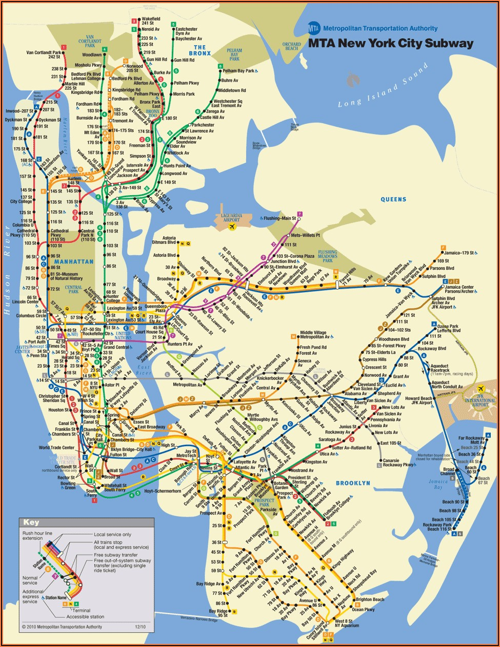 New York Hop On Hop Off Bus Route Map