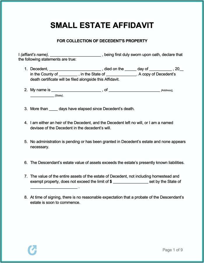 New York State Small Estate Affidavit Form