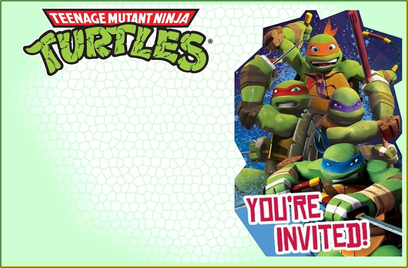 Ninja Turtle Party Invite Template