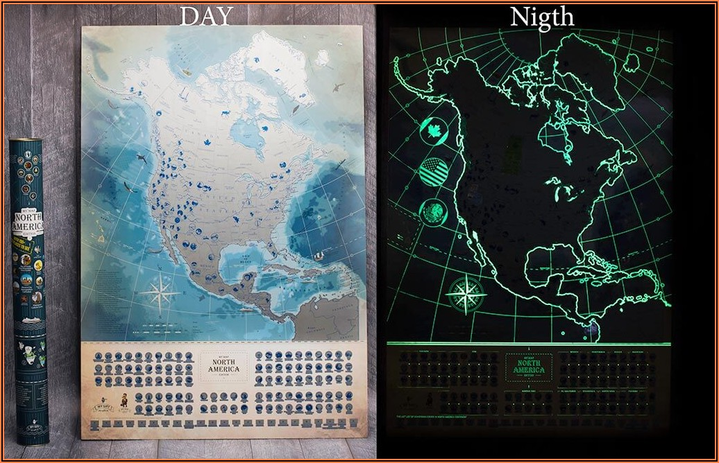 North America Scratch Off Map