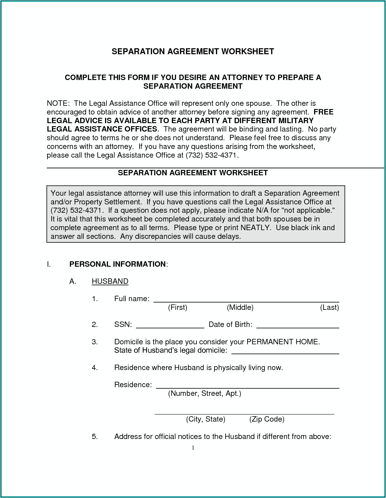 North Carolina Legal Separation Forms