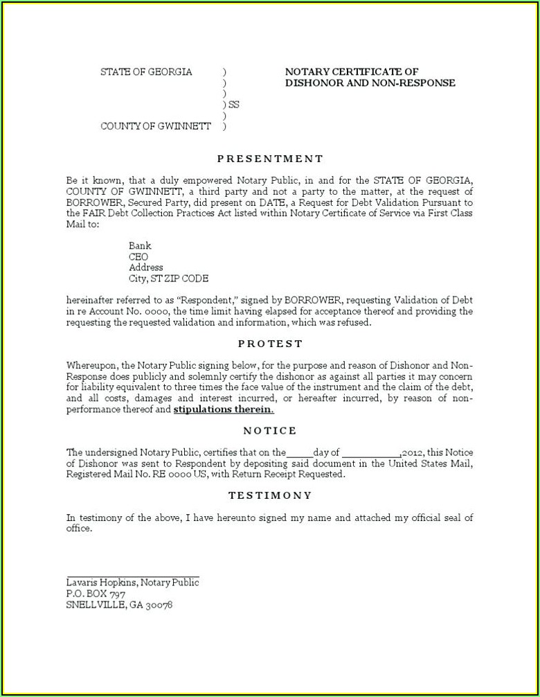 Notary Journal Template Word