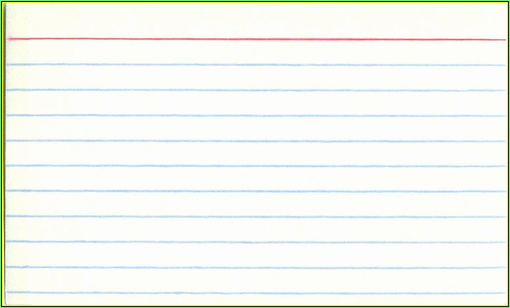 Note Card Template Free