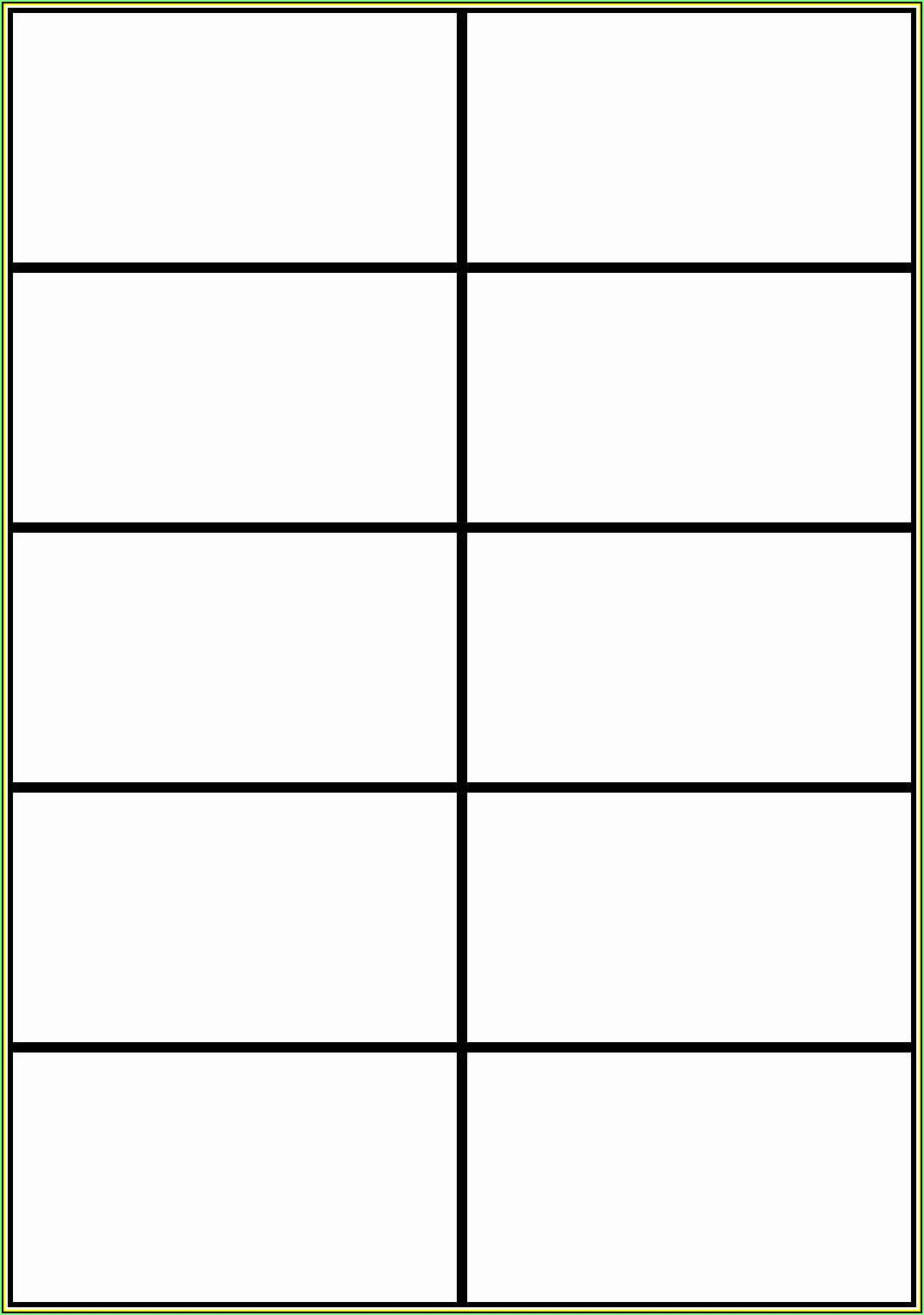 Note Card Template Word Free