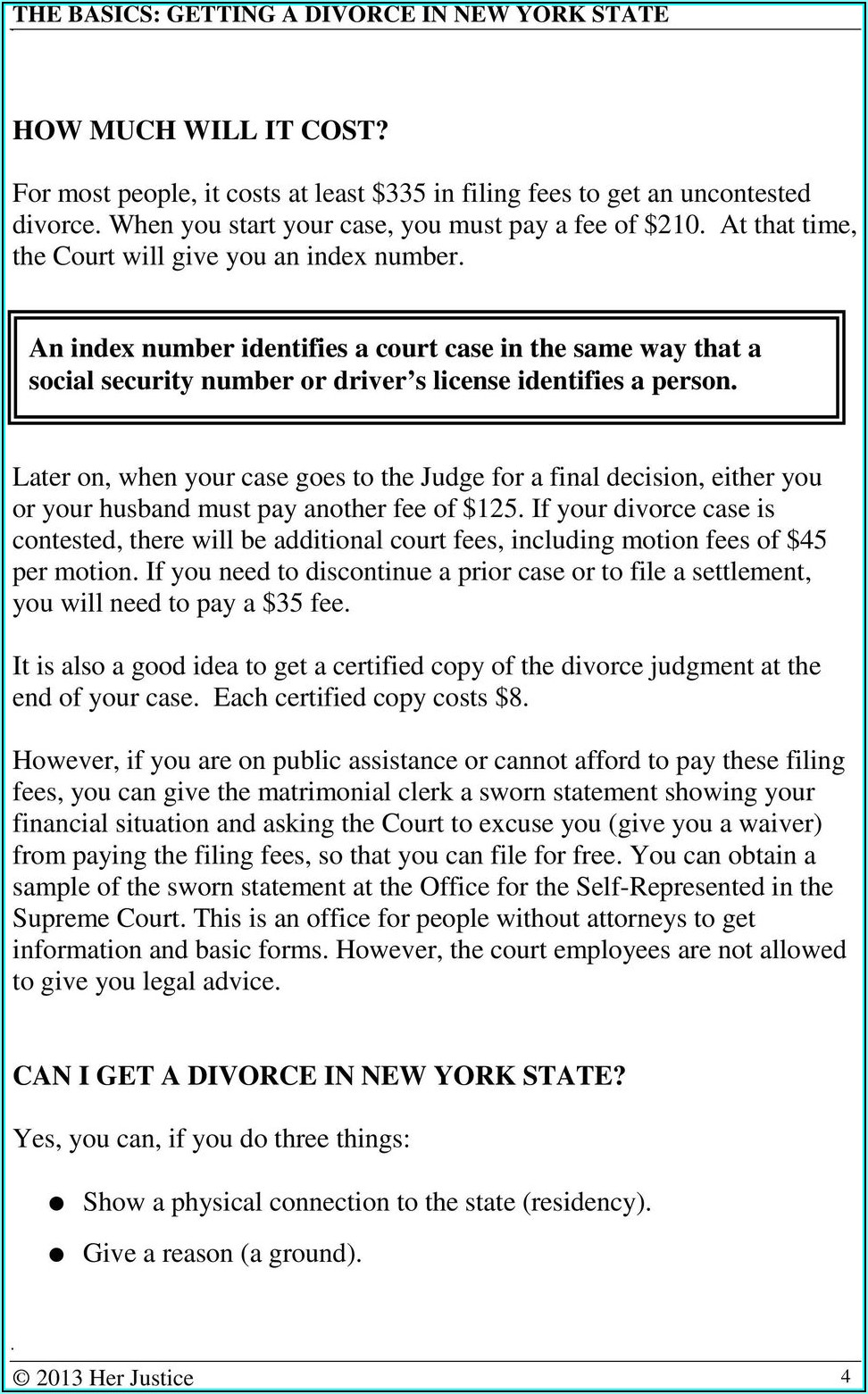 Ny State Filing Divorce