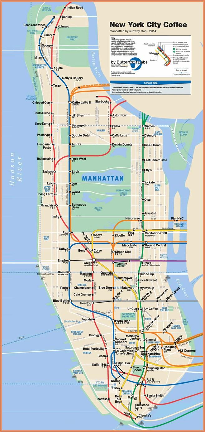 Nyc Subway Map Manhattan Pdf
