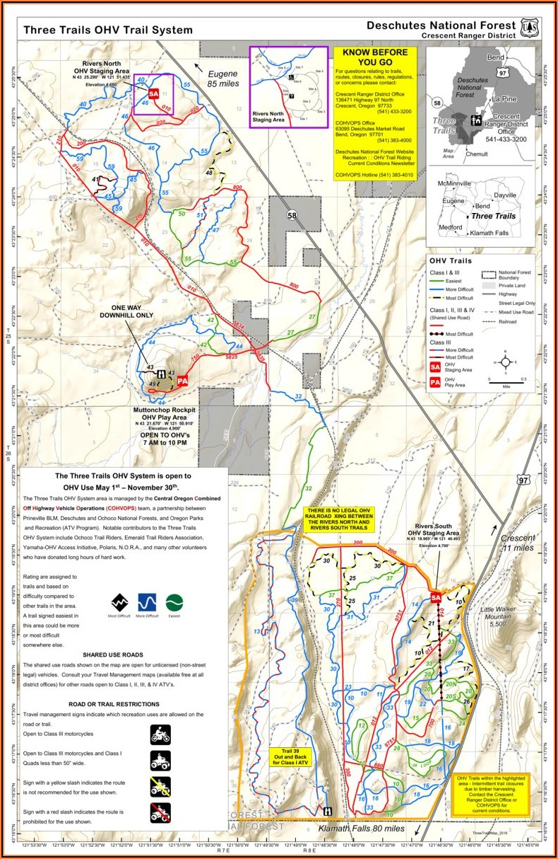 Ohv Trail Maps Oregon