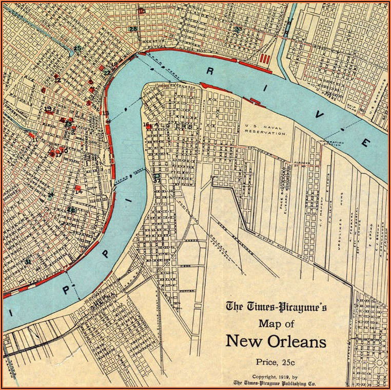 Old Maps Of New Orleans