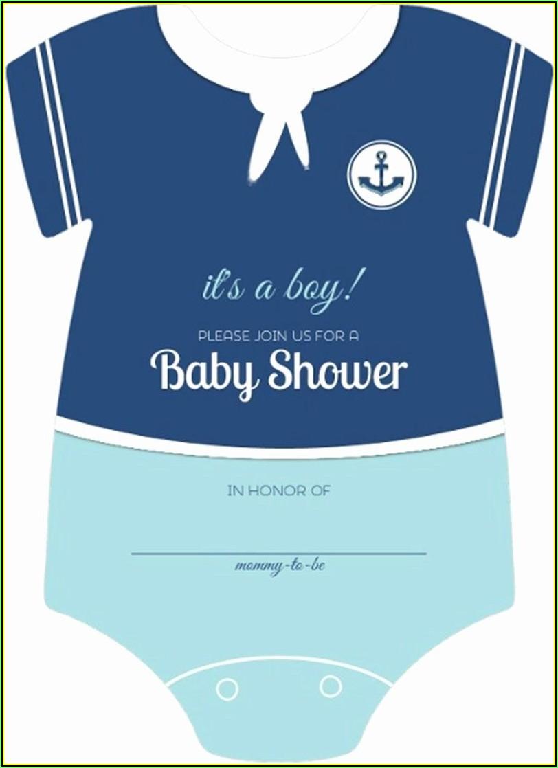 Onesie Baby Shower Invitations Template