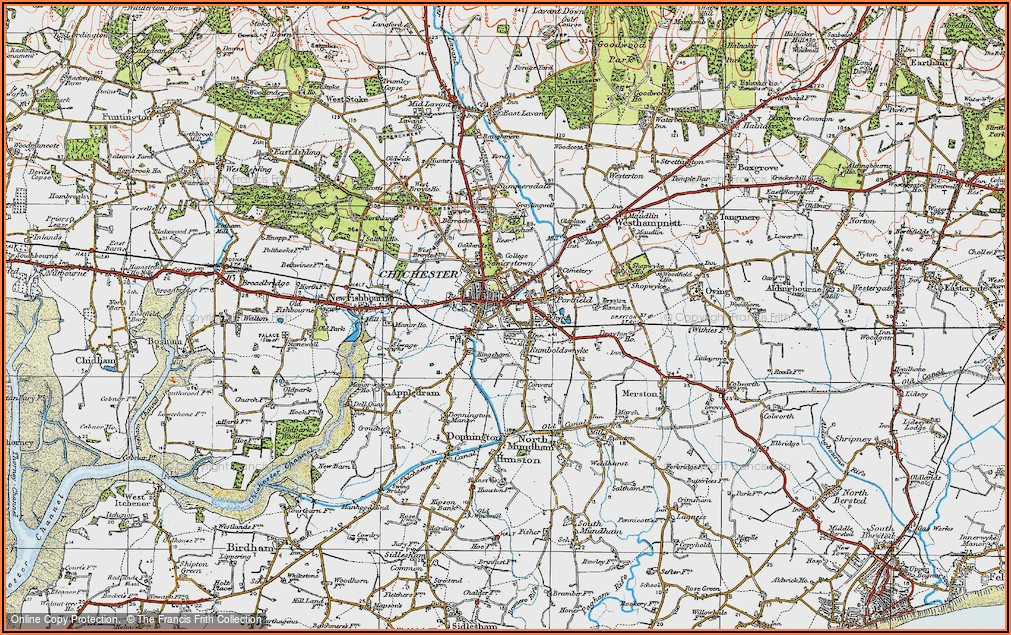 Original Old Ordnance Survey Maps For Sale