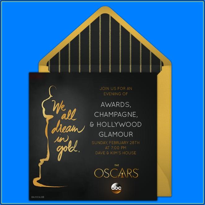 Oscar Themed Invitation Template