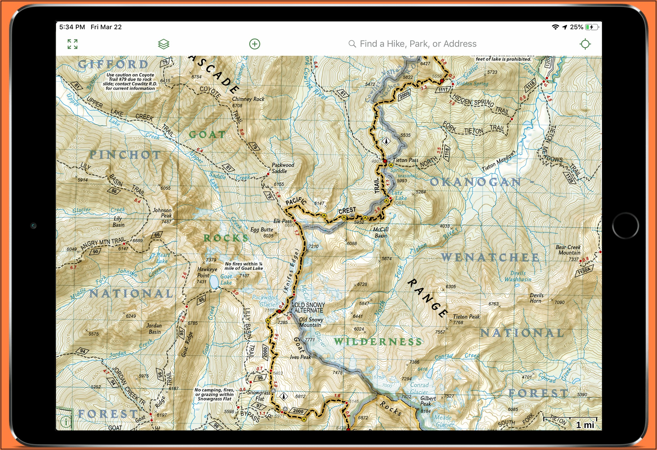 Pacific Crest Trail Maps Washington