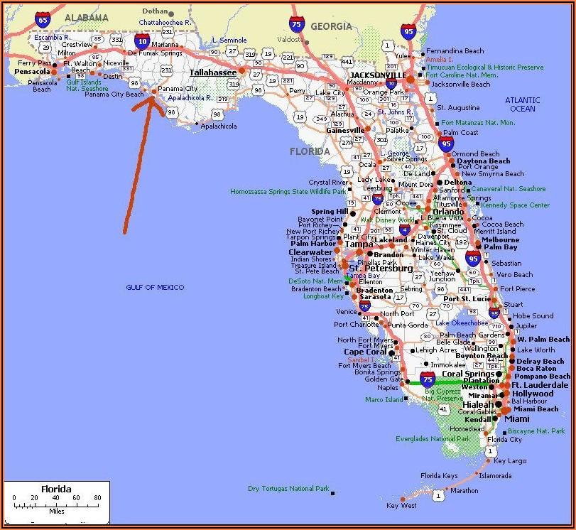 Panama City Beach Accommodation Map